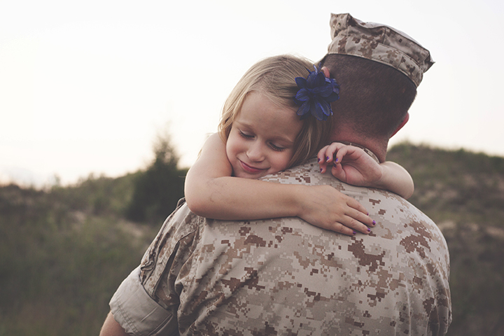 Military father session